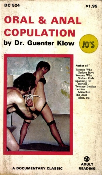 Oral & Anal Copulation by Dr. Guenter Klow - Ebook